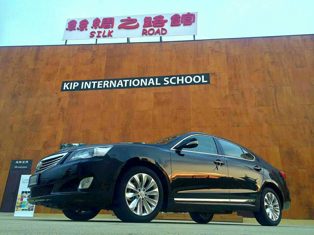 汽车展区,只为中国品牌车队开放. 长安汽车来到欧洲就像回了高清图片